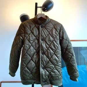 Vintage Diamond Quilted Hunting/Military Jacket